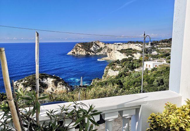 Zimmeranmietung in Ponza - b&b Casa d'aMare  - matrimoniale con terrazzo vist